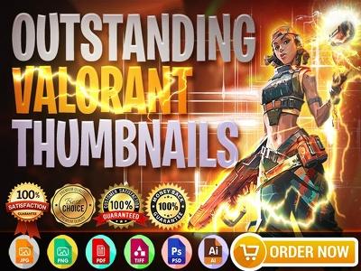 Design an outstanding valorant thumbnail