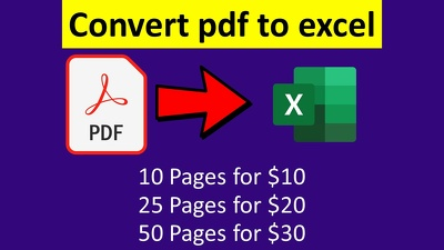Convert PDF to excel or scan pages to excel or google sheet