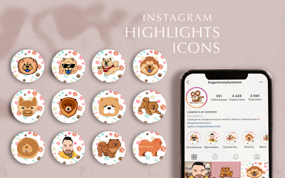 Do instagram highlight icons social media posts and banners