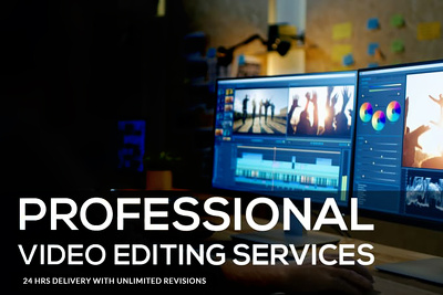 Edit your video professionally within 24 hours