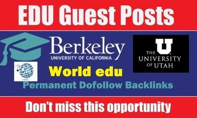 Guest post on Berkeley.edu, World.edu,Utah EDU dofollow blog