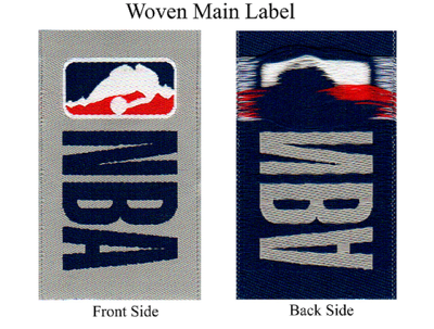 Supply garments woven label