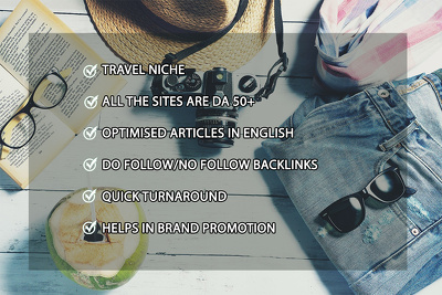 Write + publish 1 guest post on travel portal with Do-Follow