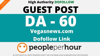 Guest post on VegasNews. Vegasnews.com - DA60
