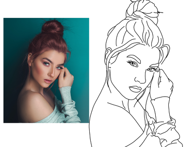 Draw line art of your photo