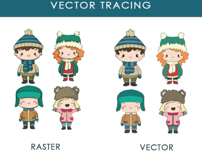 Do vector tracing, convert your images and logo into vector.