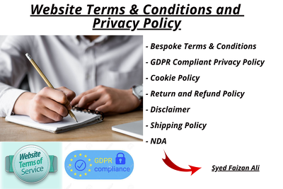 Write legal website terms and conditions or privacy policy