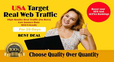 Drive USA real traffic to your website for 1 month