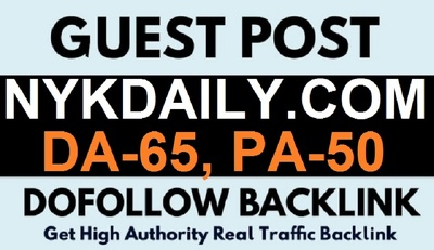 Publish your Content DA -65 Nykdaily.com Dofollow - 400k traffic