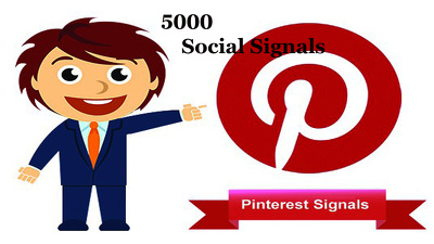 Give you 5000 pinterest Social Signals