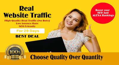 Drive real traffic to your website for 1 month