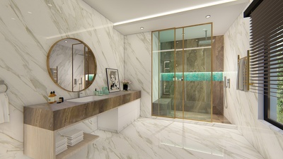 Interior design your bathroom, kitchen, closet, bedroom