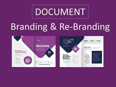 Branding & rebranding document or pdf design