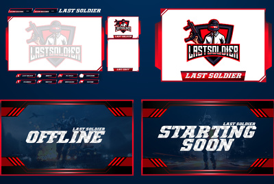 Design custom twitch overlay pack and mascot logo for streamer