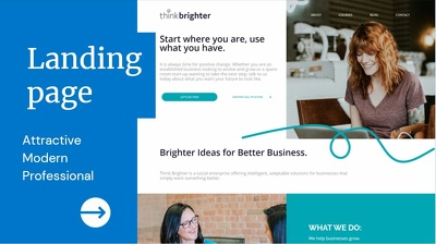 Design and build stunning and attractive Landing page