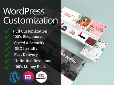 Create wordpress website or wordpress theme customization