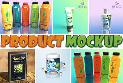 Design and render realistic 3d product mockup