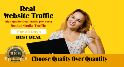 Drive real website traffic from social media for 1 month