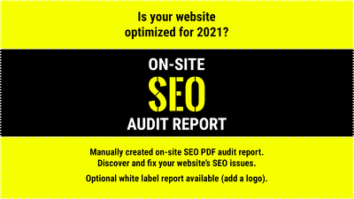 Provide an on-site SEO audit report with fixes