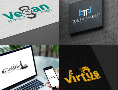 Design logo with unlimited revisions & concepts + Stationary