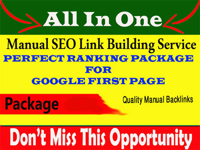 Rank on google 1st page by seo link building service