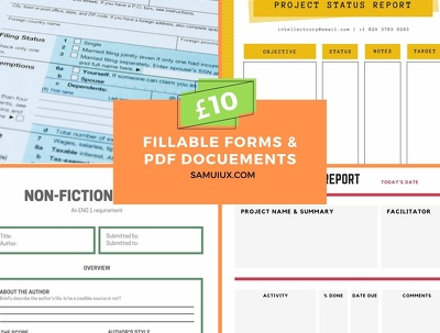 Create Fillable Form/PDF document