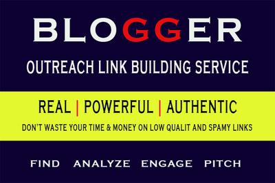 Guest post through blogger outreach SEO backlinks link building
