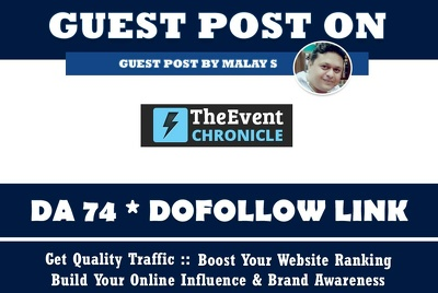 Guest post on Theeventchronicle. Theeventchronicle.com DA75