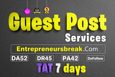Guest posting service at entrepreneursbreak with Dofollow Link