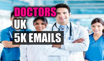 Doctors email list, email database, 5K email addresses