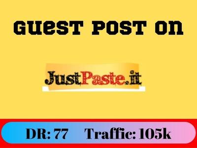 Guest Post on justpaste.it - Just Paste It DA 95 Traffic: 2.7M