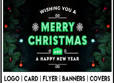 I will do merry christmas happy new year design..