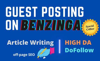 Write and publish your article Da 84 benzinga com