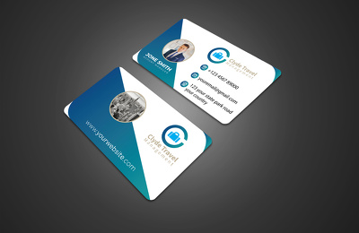 Design a professional plastic or transparent business card