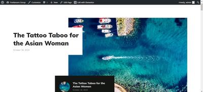 Customize WordPress website using Elementor & Elementor pro.