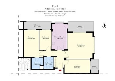 Draw 2D Floor Plan (up to 60m2) (with colour/furniture)