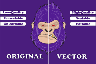 Redraw your logo / graphic as high resolution, scalable VECTOR
