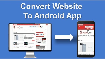 I will convert website to an android app