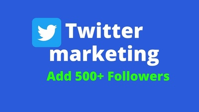 Promote twitter marketing grow followers and engagement