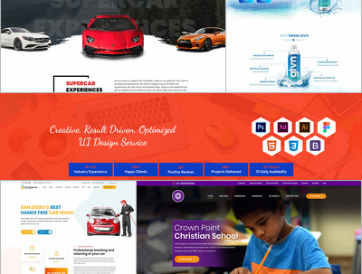 Design customized HOME/Landing page