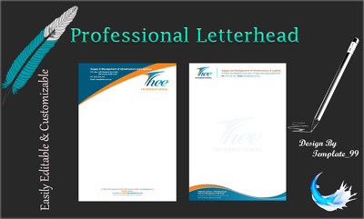 Design editable custom business letterhead