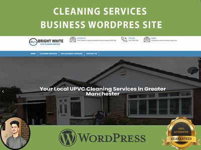 Develop modern cleaning services business WordPress site