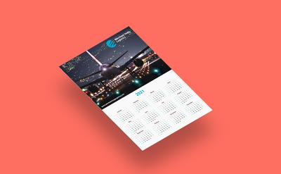 Design & print your business calendar for 2021 (10 copies)