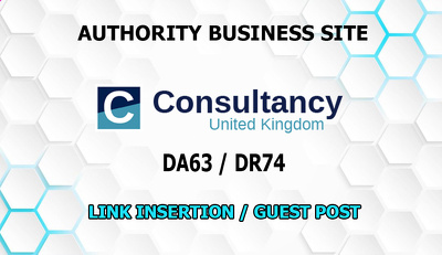 Link placement / guest post on business site Consultancy.uk DA63