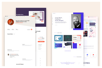 Design professional and modern looking  landing page or web site
