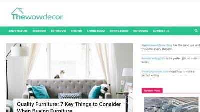Publish a Guest Post on Thewowdecor - Thewowdecor.com - DA36