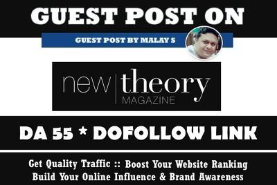 Guest Post on Newtheory Magazine. Newtheory.com DA55