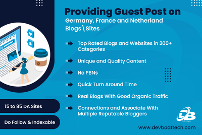 Provide you Guest Posts on German, French, and Netherland Blogs