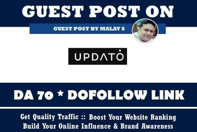 Guest Post on UPDATO. Updato.com DA70