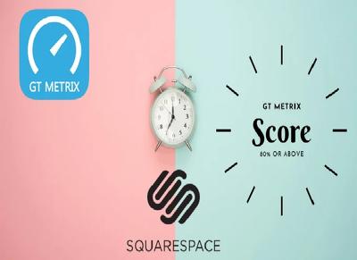 I will optimize squarespace website speed according to gtmetrix.